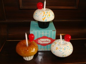 Glass cupcake candle holder