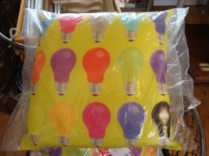 Lightbulb cushion