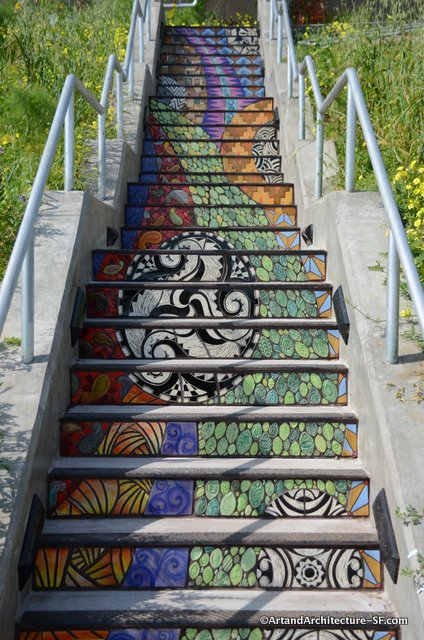 Bayview Hunters Point Tile Stairway