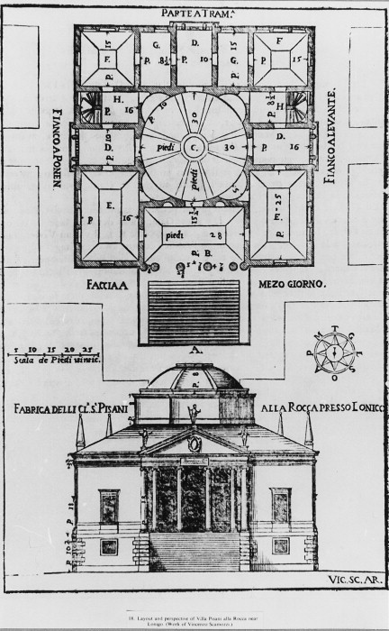 A Amp A Perspective Drawing Plans Drawings Villa Pisani