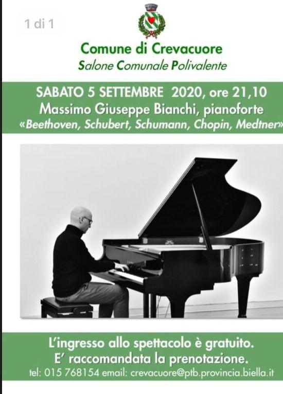 Comune di Crevacuore Sabato 5 Settembre il Maestro Massimo Giuseppe Bianchi in concerto: Beethoven, Shubert, Chopin…