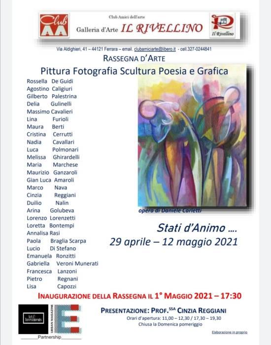 """La Galleria Il Rivellino presenta: """"Stati d'Animo"""" Dal 29 Aprile al 12 Maggio."""