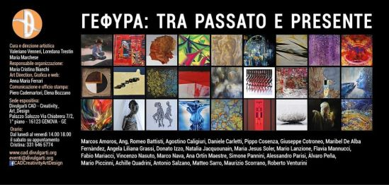 """Esposizione d'arte contemporanea """"ΓΕΦΥΡΑ: TRA PASSATO E PRESENTE""""Genova, Palazzo Saluzzo dei Rolli, CAD Creativity Art Design, via Chiabrera 7/2dal 5 al 29 maggio 2021"""