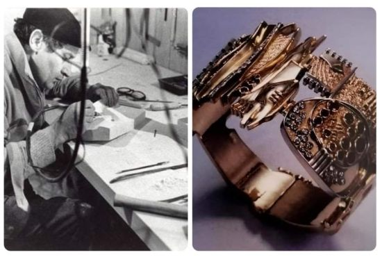 """""""La dimensione aurea"""" di Gio' Pomodoro, 14 Gioielli scultura presentati fino al 18 Luglio presso gioielleria Cassetti a Forte dei Marmi."""