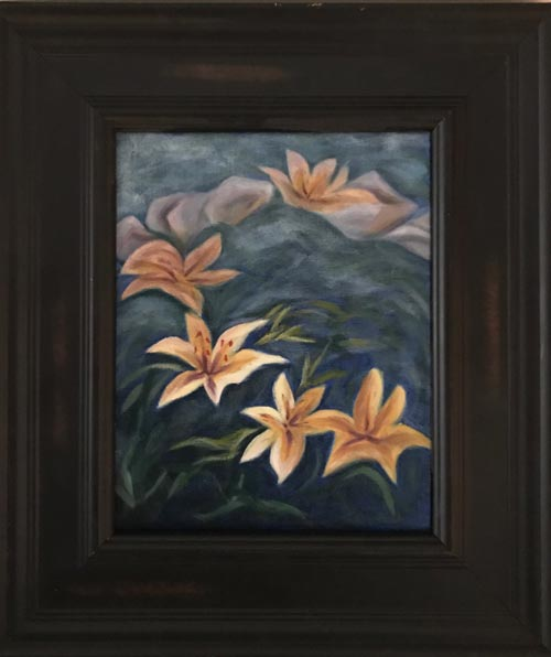 Lily Pond (Black Frame)