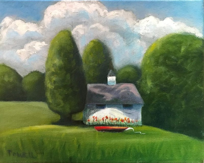 """""""The Watching Shed"""", Oil on Canvas, 8"""" x 10"""""""