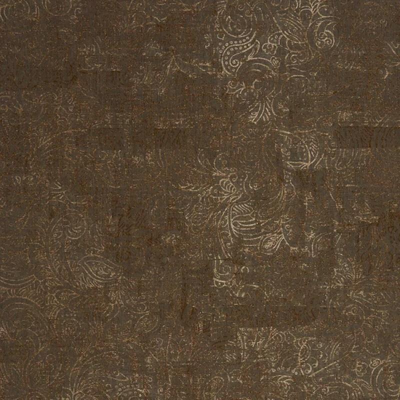 papier peint casadeco majestic cachemire marron cuivre
