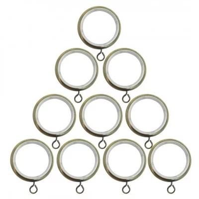 anneaux laiton o45 mm avec crochet pour tringle a rideaux vendus par 10