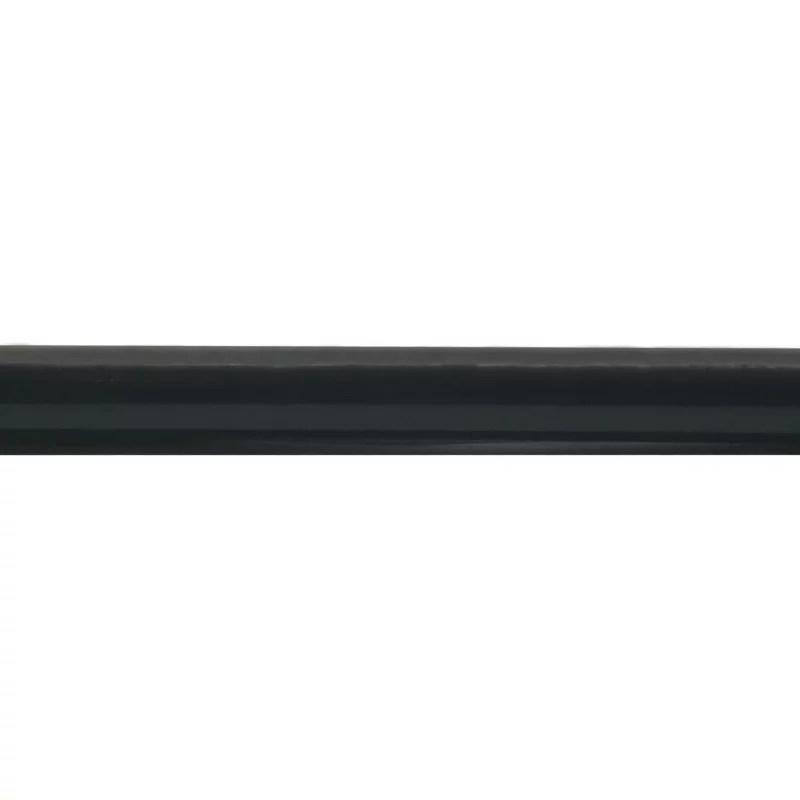 barre de rideau extensible noire 160 300 cm o19 mm