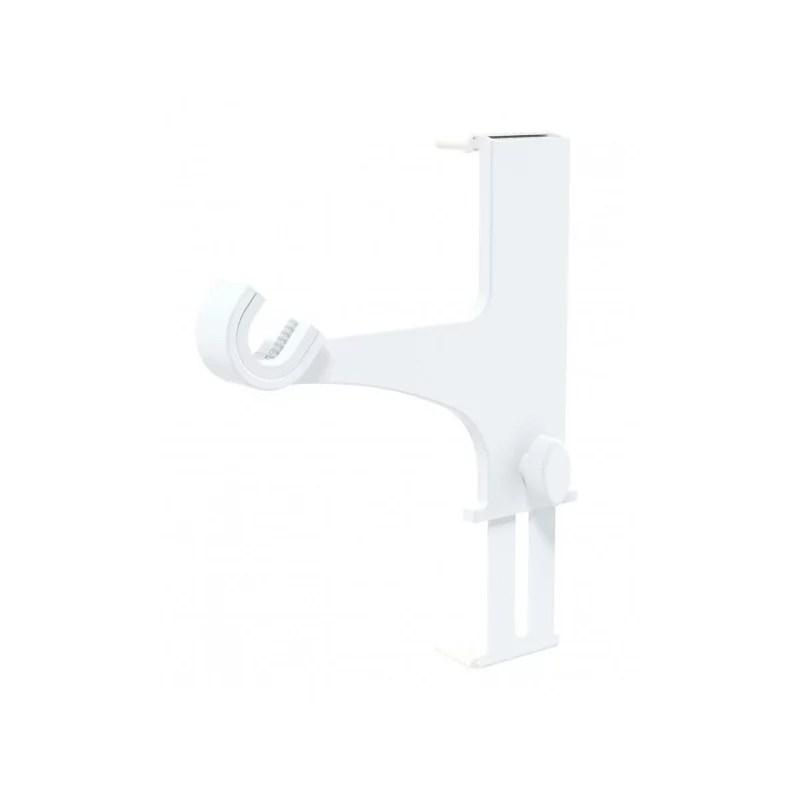 2 supports pour coffre de volet roulant blanc sans percage o20 28 mm