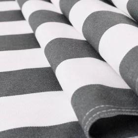 toile transat rayures blanc gris fonce 43 cm