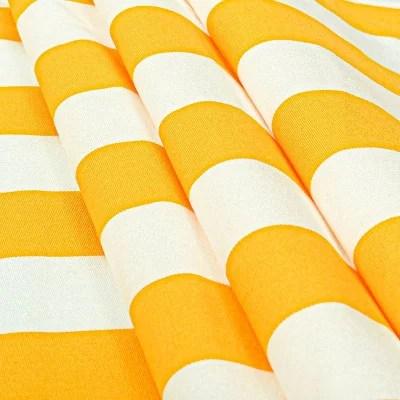 toile transat rayures blanc jaune 43 cm