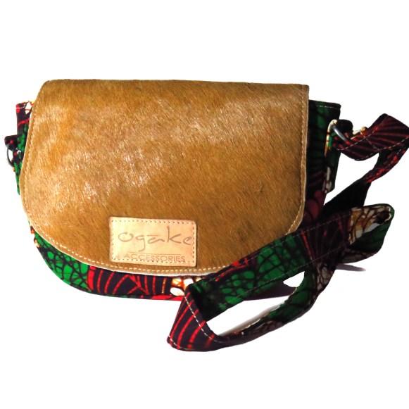 Handmade small bags. Kitenge fabrics and leather. Made in Kenya.