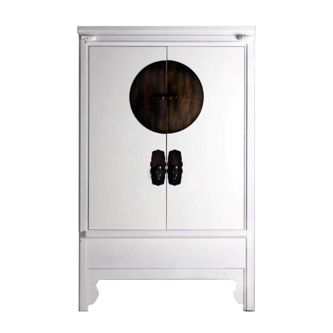 armoire chinoise blanche siete mares 2 portes image 1