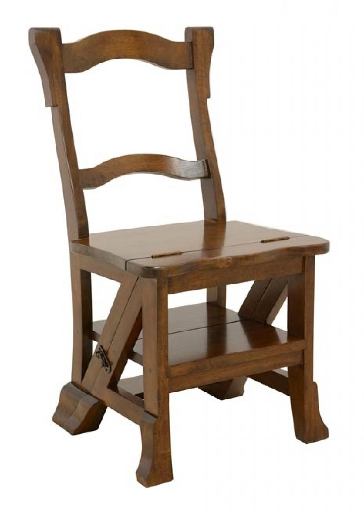 florence chaise escabeau bois massif