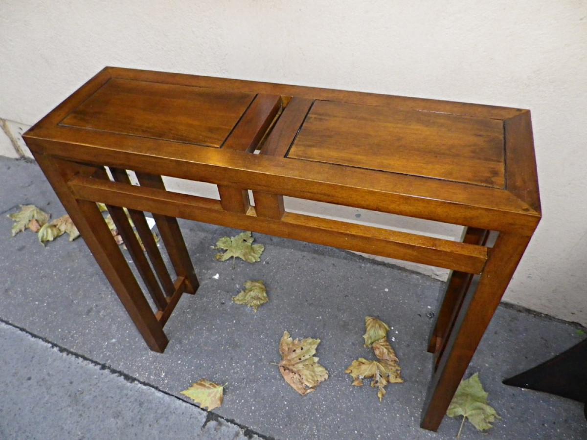 console en bois personnalisable 80 cm de longueur