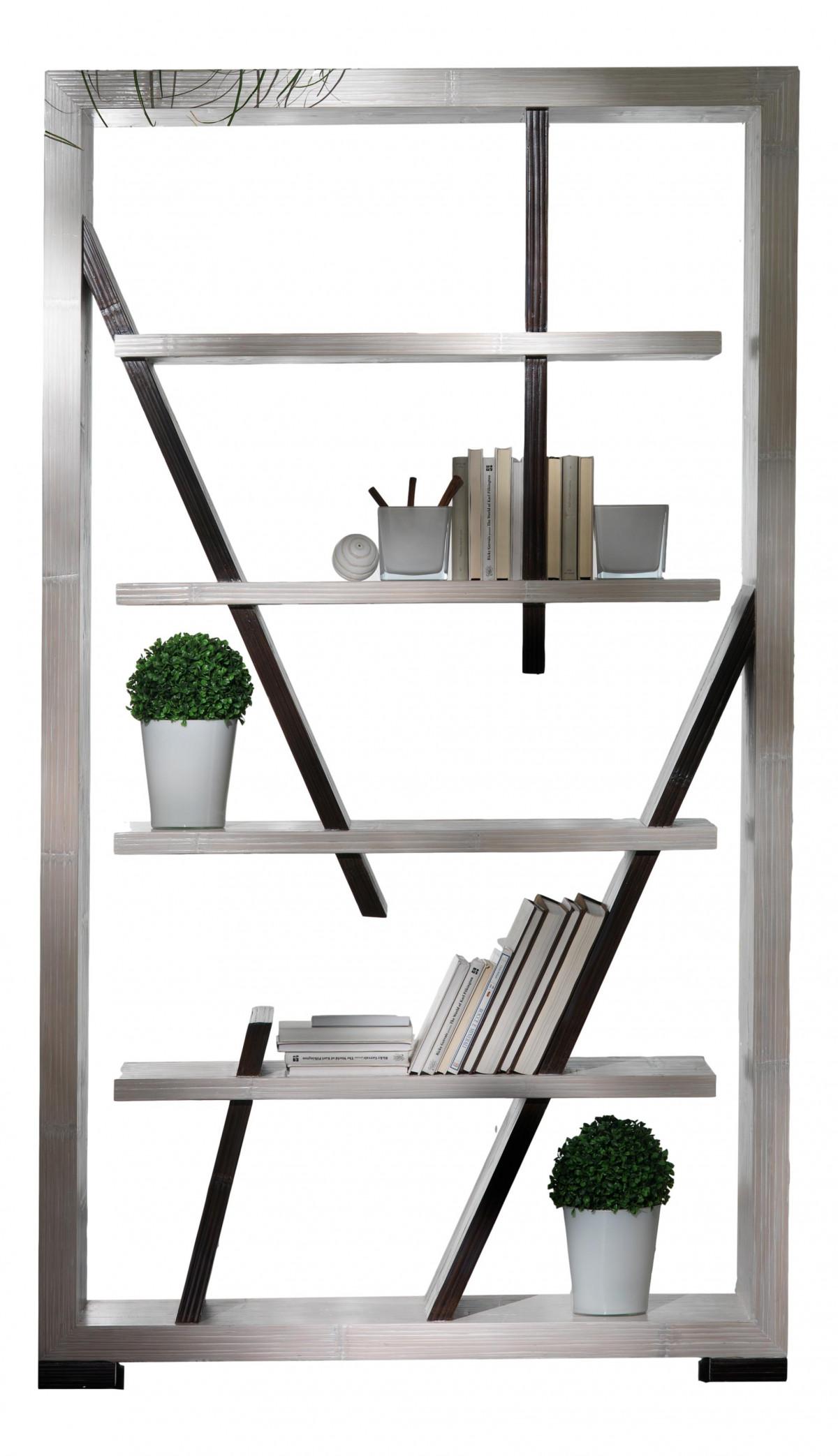 indah bibliotheque design blanc wengue