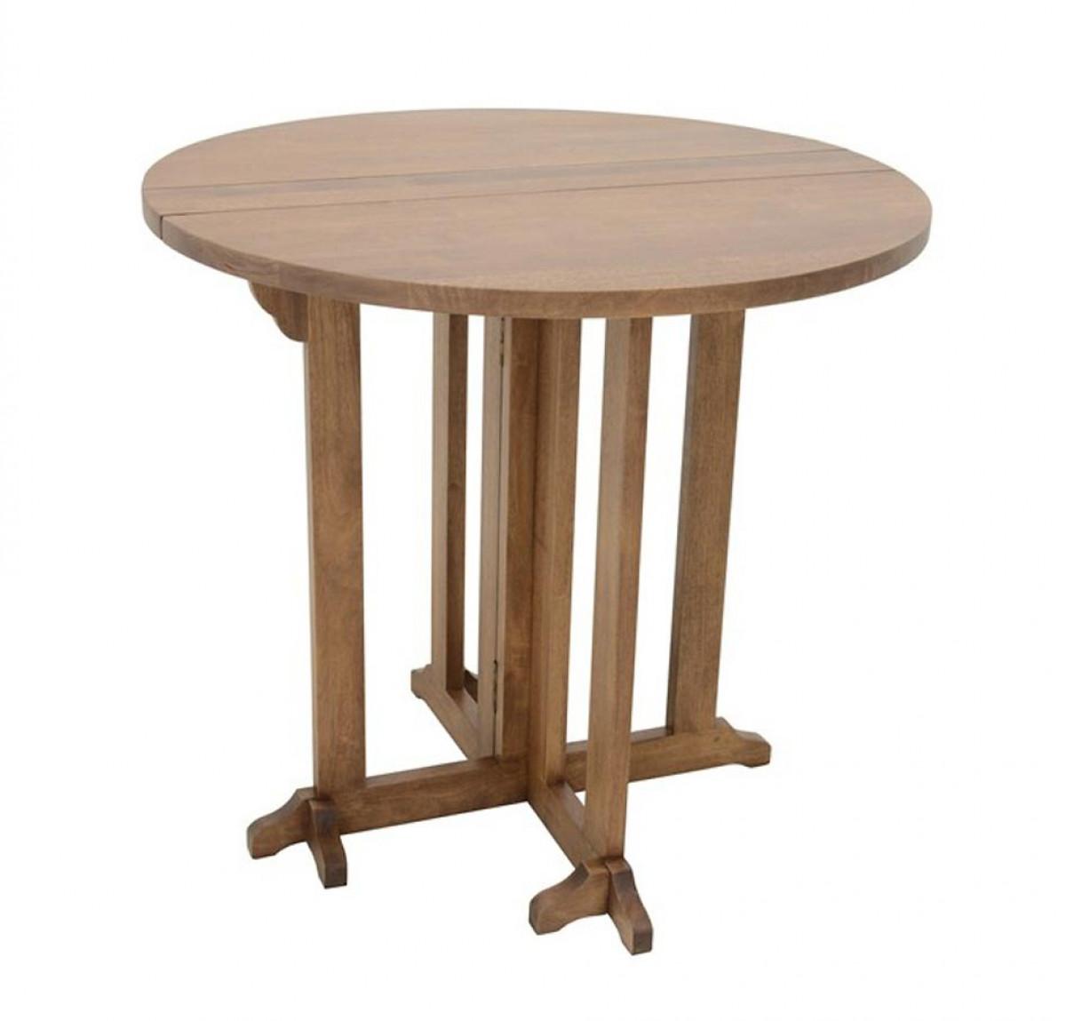 table avec plateaux a rabat hevea massif