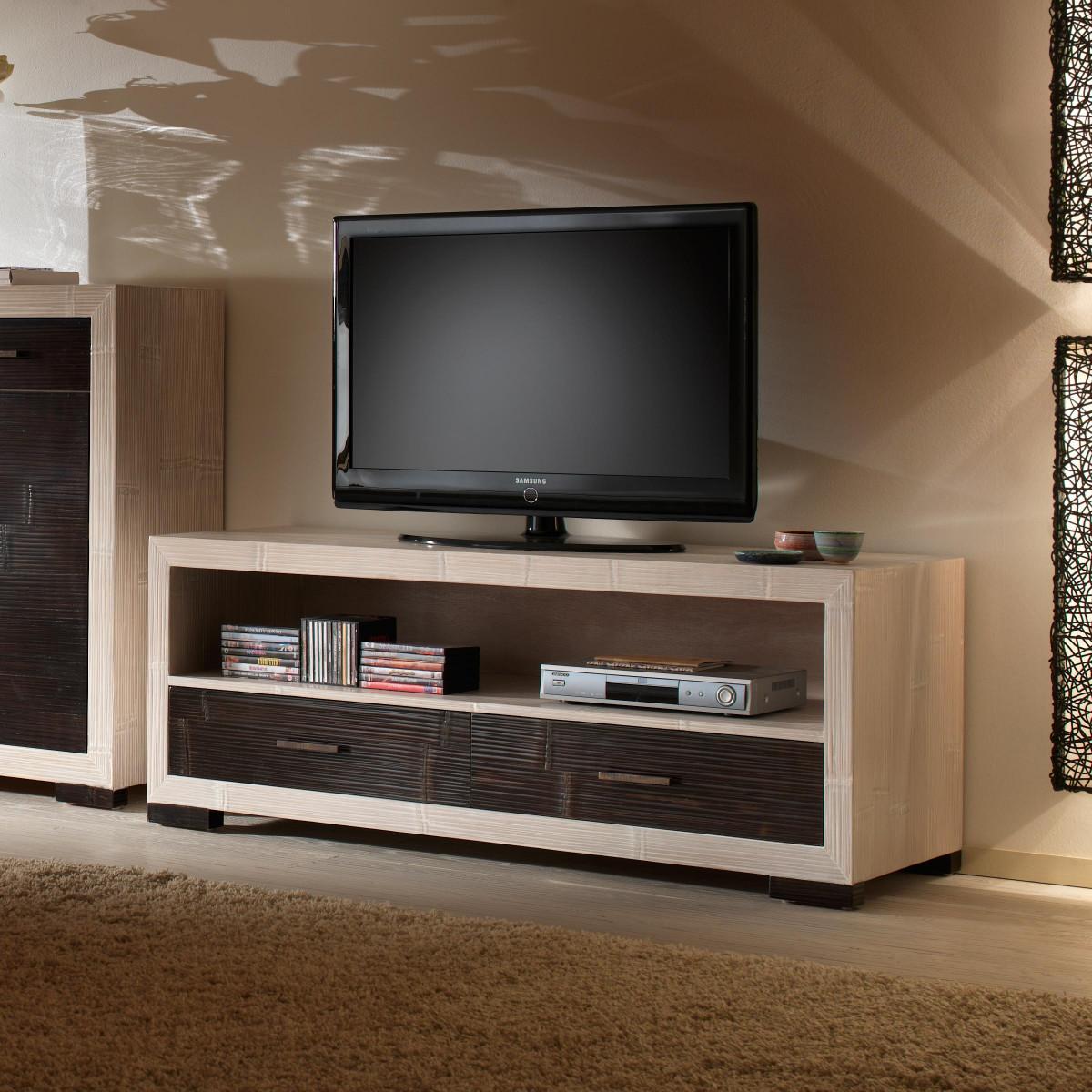 meuble television moderne 150 cm de longueur collection indah
