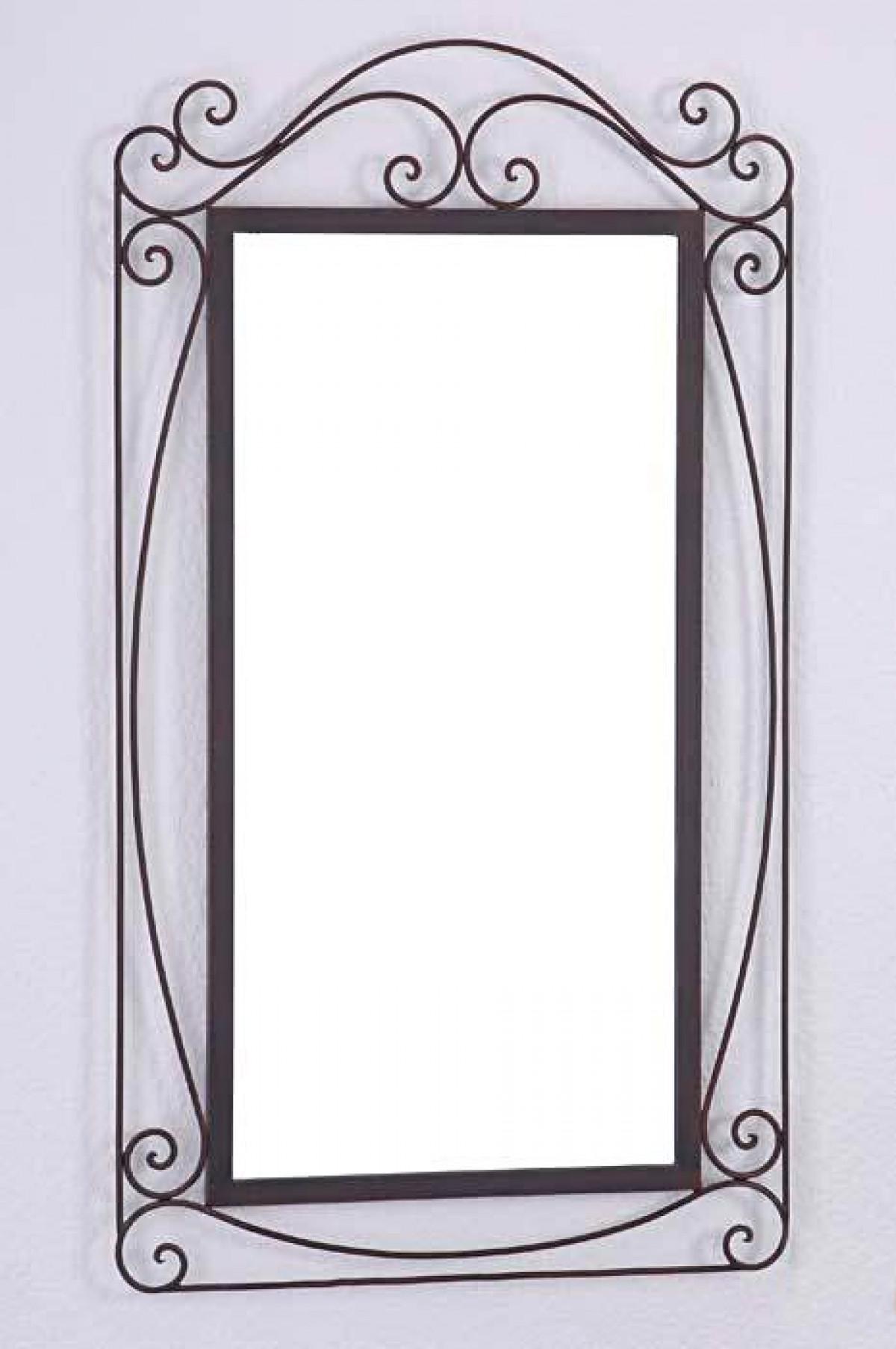 miroir fer forge artisanal arabesque