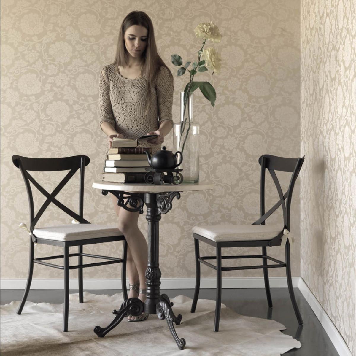 table bistrot en fer forge et plateau au choix 60 cm bolkia