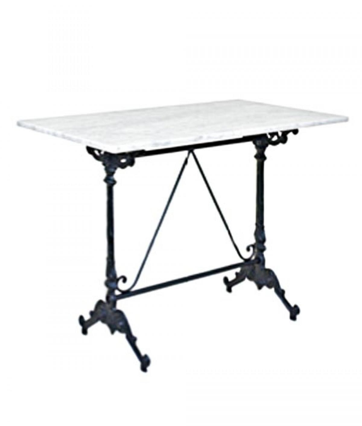 tesselles table de bistrot marbre ou imitation pierre