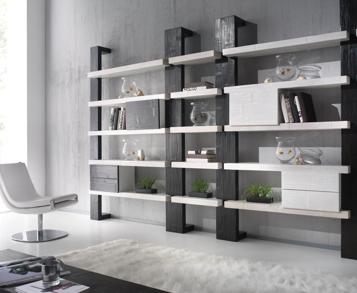 etagere modulable en bois de mindi et bambou deroule gamme indah