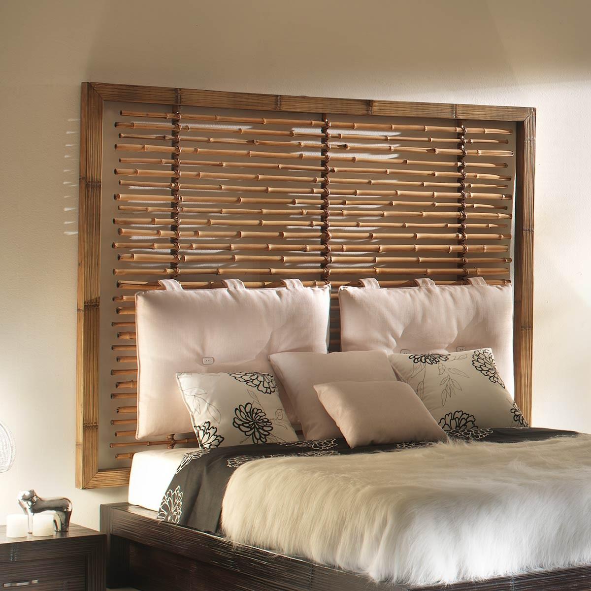 indah tete de lit bambou hauteur 150 cm