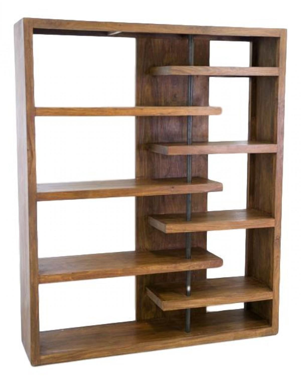 wakae bibliotheque design en bois palissandre indien