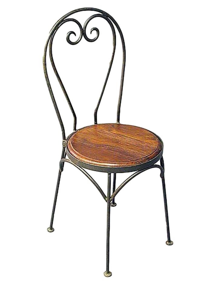 https www artbambou com set 2 chaises fer forge assise bois