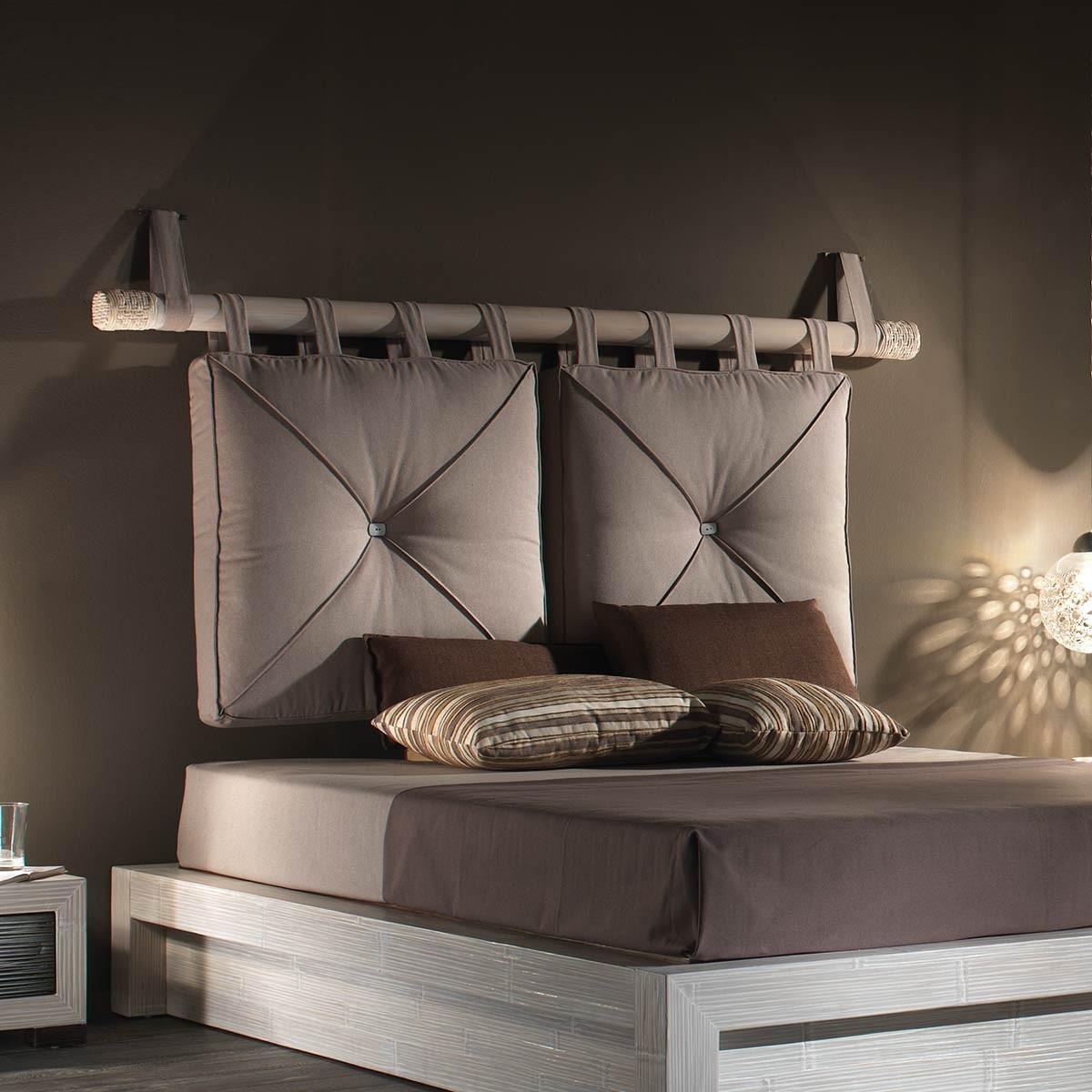 numashi tete de lit blanche coussins integres