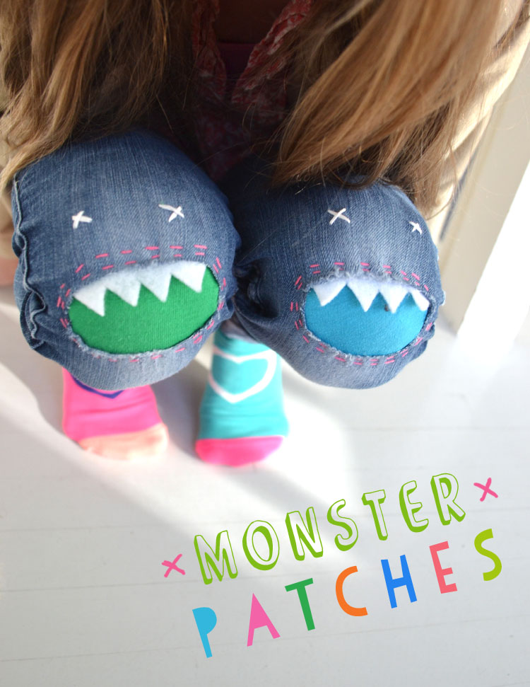 monster knee patches for ripped jeans
