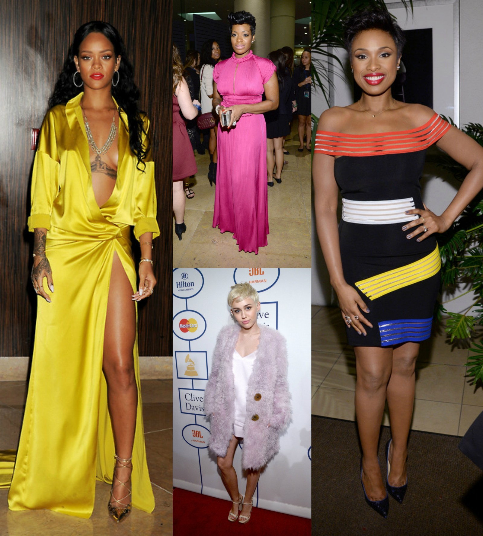 rihanna, miley cyrus, fantasia, jennifer hudson, chrissy teigen at 56th GRAMMY Awards Pre-GRAMMY Gala