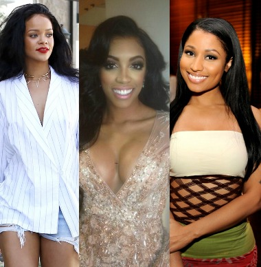 porsha williams rihanna nickiminaj natural