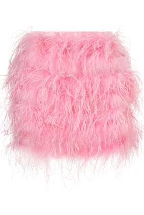 Topshop Premium Full Feather Skirt