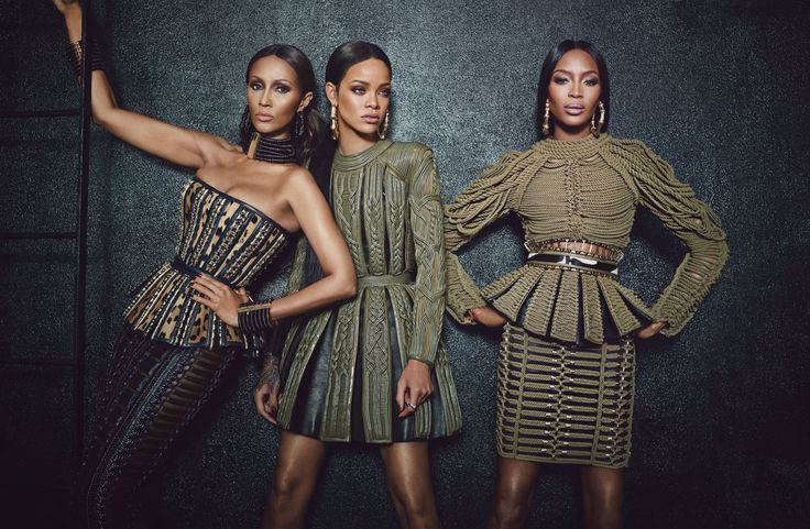 Rihanna, Naomi Campbell, Iman & Oliver Rousteing in W Magazine September 2014