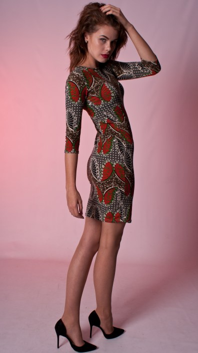 Butterfly Bodycon Print Dress