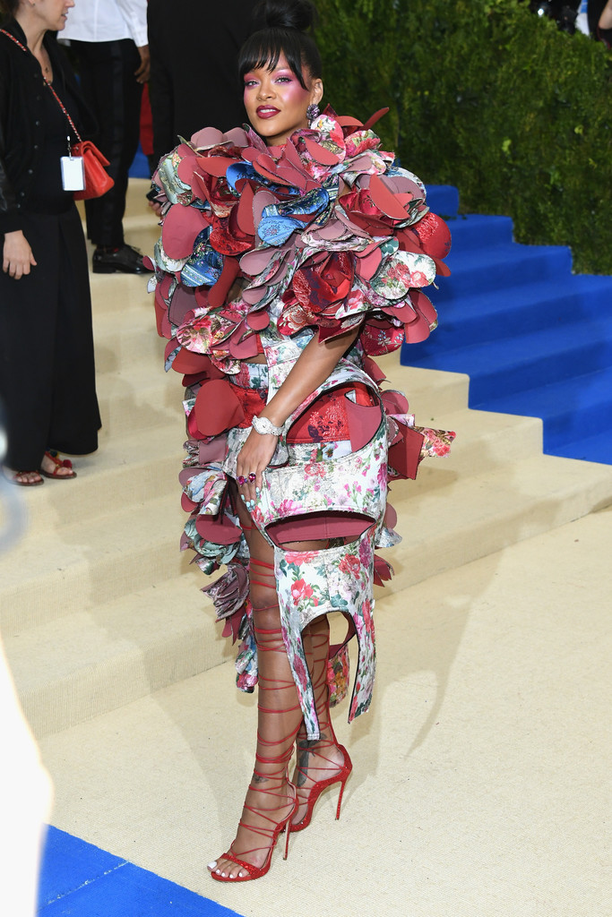 rihanna met gala 2017 floral dress
