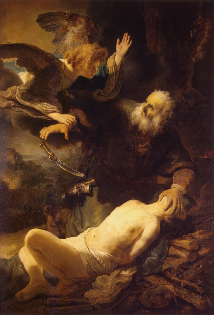 Rembrandt Harmensz. van Rijn: The Angel Prevents the Sacrifice of Isaac (1635)