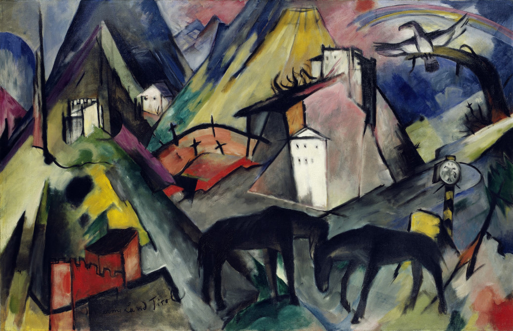 The Unfortunate Land of Tyrol, Franz Marc, 1913