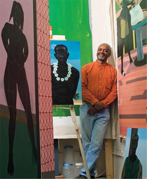 Kerry James Marshall in seinem Studio, Courtesy of the artist and Jack Shainman Gallery, New York