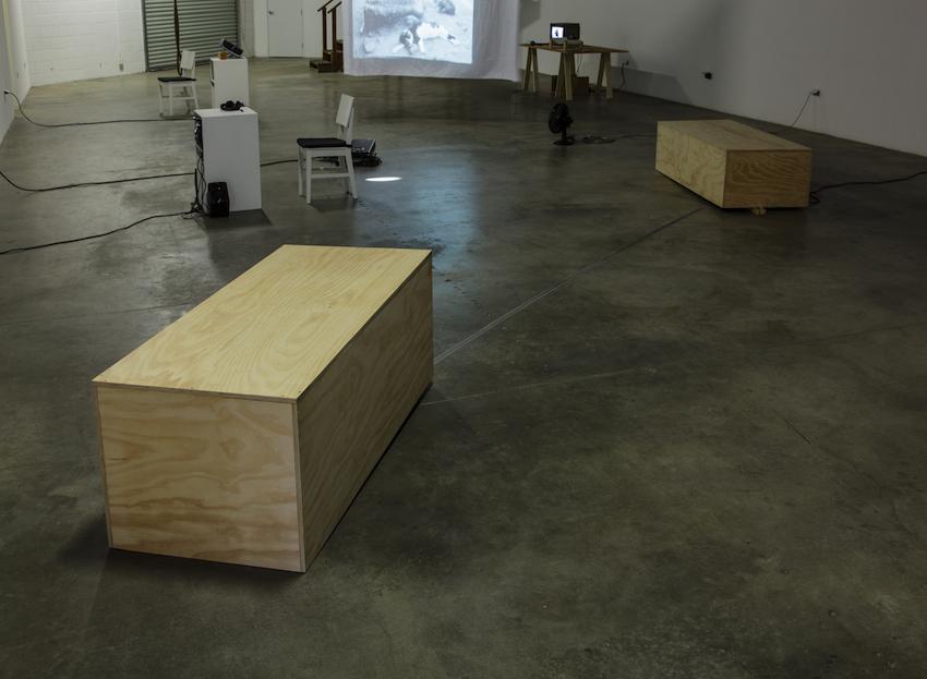 Simone Forti, Platforms, 1961, Sounding, 2012, ©The Box LA