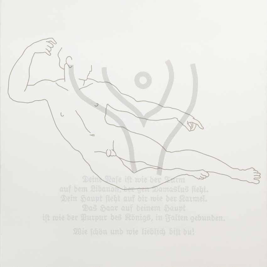 rune-mields-ueber-die-schoenheit-der-maenner-der-liegende-1984-acryl-auf-leinwand-200x200cm-foto-ben-hermanni-courtesy-galerie-judith-andreae
