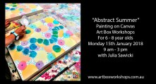 Abstract painting workshops at Art Box Workshops