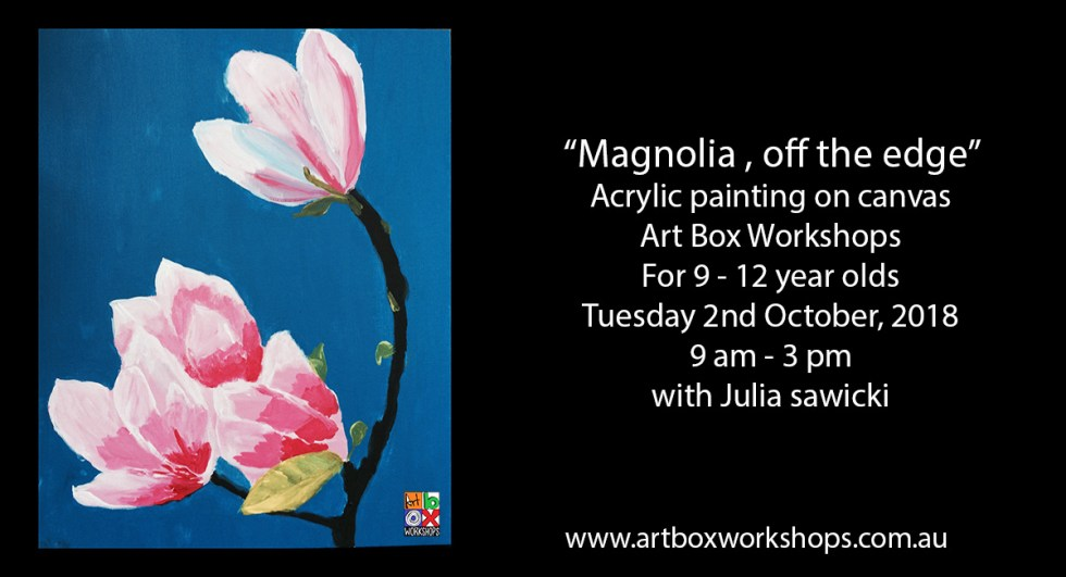 Magnolia painting from Art Box Workshops