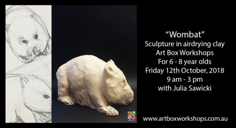wombat sculpture created at Art Box Workshops
