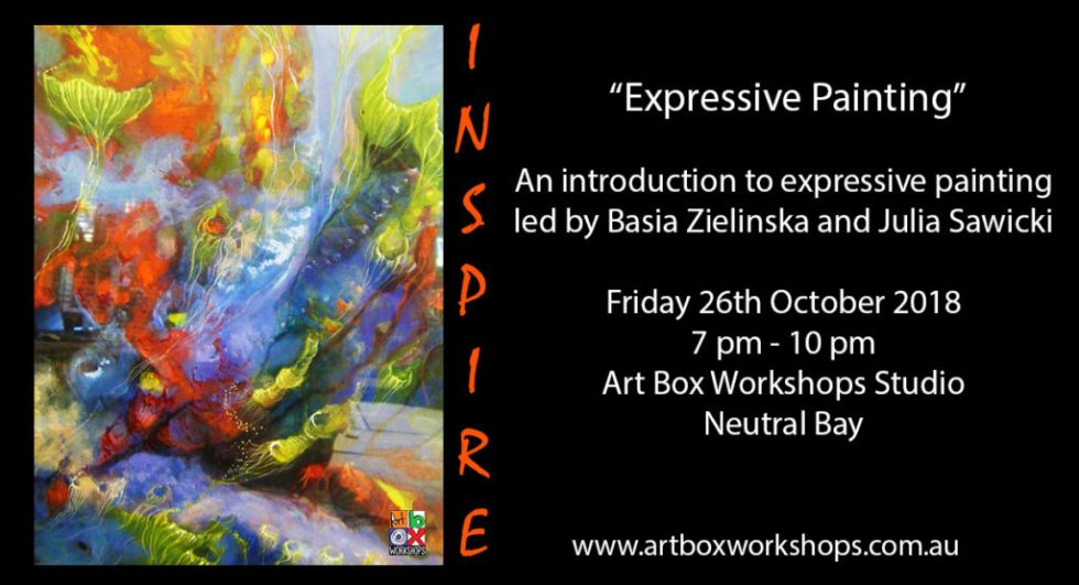 Expressive painting workshops atArt Box Workshops