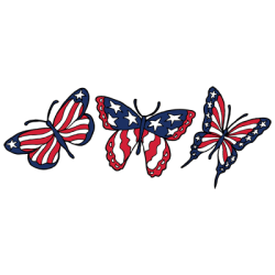TEMP-FLAG BUTTERFLIES