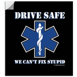 EMS DRIVE SAFE STICKERS