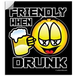 FRIENDLY WHEN DRUNK STICKERS